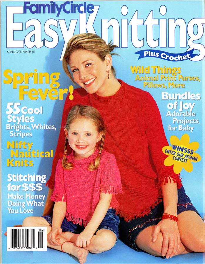Family Circle Easy Knitting Plus Crochet Spring-Summer 2001 - 55 Projects, Granny Square Primer