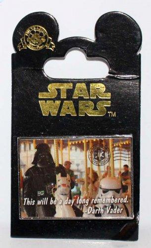 Disney Darth Vader on a Carousel Postcard Pin