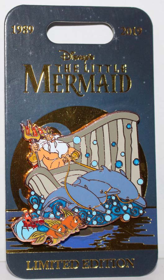 Disney Little Mermaid 30th Anniversary Pin King Triton and Sebastian Limited Edition 5000