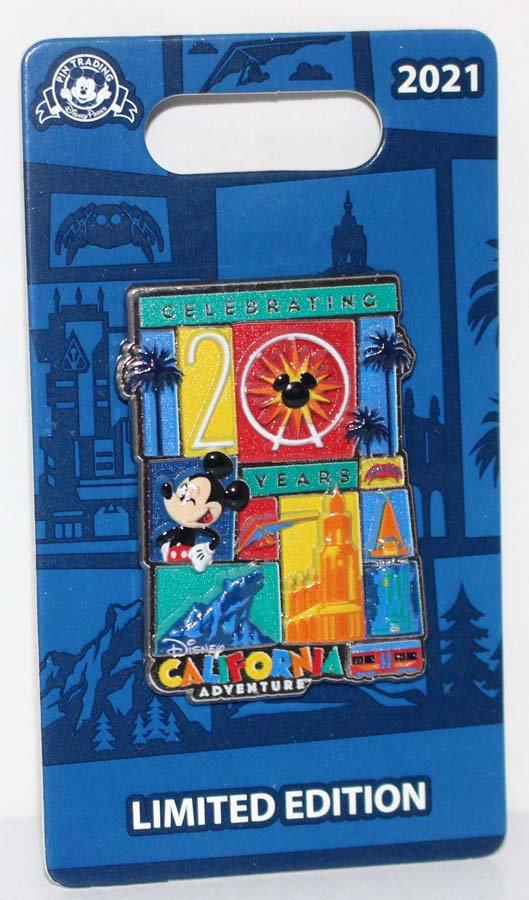 Disneyland Resort Disney California Adventure 20th Anniversary Pin Limited Edition 3000