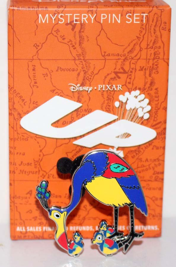 Disney Parks Pixar's Up Mystery Pin Set Kevin and Babies