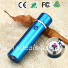Blue Dual Arc Electric USB Lighter Rechargeable Plasma Windproof Flameless Cigar Pipe