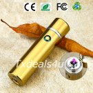 Gold Dual Arc Electric USB Lighter Rechargeable Plasma Windproof Flameless Cigar Pipe