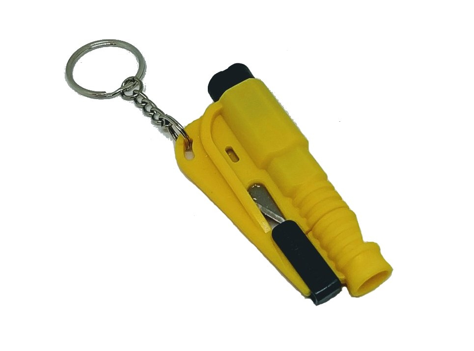 3 in 1 Mini Emergency Safety Hammer Auto Car Window Glass Breaker Cutter Whistle Escape Tool Yellow