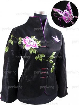 Black Flowered Jacket