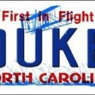 "NCAA Duke Blue Devils Vanity License Plate Tag 6""x12"" College Vintage Metal New"