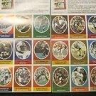 Sunoco/DX 1972 NFL  player stamps:Cowboys, Redskins, Broncos, Jets Lanier Cheifs