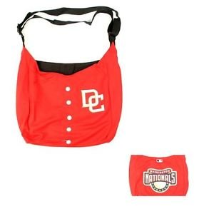 MLB Washington Nationals Jersey Tote Bag Red Purse Harper Shoulder  Strap logo