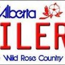 """NHL Oilers Vanity License Plate Tag  6""""x 12"""" Metal Auto Alberta Stanley New Cup"""