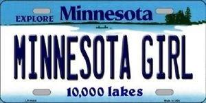 "Minnesota Girl  Vanity License Plate Tag 6""x 12"" NCAA  Metal Auto Ohio State"