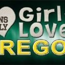 "This Girl Loves Oregon License Plate Tag 6""x 12"" NCAA Ducks Metal Auto Truck"