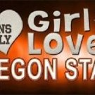 "This Girl Loves Oregon State License Plate Tag 6""x 12"" NCAA Beavers Metal Auto"