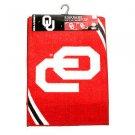 NCAA OKLAHOMA SOONERS  2-Piece Tufted Nylon Rug Set 18 X 24  20 X 34 Red Dorm