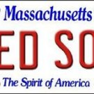 "Mlb Red Sox Vanity License Plate Tag Boston 6""x 12""  Metal Auto Fenway Park New"