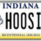 "NCAA Indiana Vanity License Plate Tag 6""x12"" Hoosiers College Team Metal Auto"
