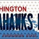 "Seahawks Fan Vanity License Plate Tag Seattle  6""x 12"" Metal Nfl Auto Wilson"
