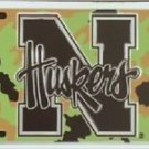 NEBRASKA LICENSE PLATE CAR TRUCK TAG CORNHUSKERS  CAMO METAL EMBOSSED NCAA MU