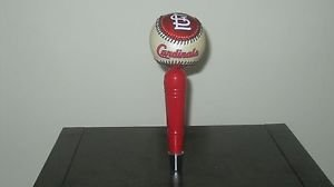 MLB St Louis Cardinals KEGERATOR BEER TAP HANDLE Baseball Bar Busch Holiday Brew