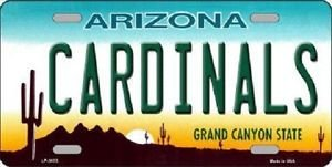 "Nfl Cardinals Vanity License Plate Tag Arizona State  6""x 12""  Metal Auto Palmer"