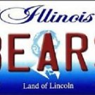 "Nfl Bears Vanity License Plate Tag Chicago  6""x 12""  Metal Auto Ditka Midway New"