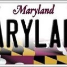NCAA Maryland Vanity License Plate Tag  Vintage Team Metal Terrapins Auto