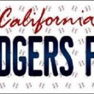 "Mlb Dodgers Fan Vanity License Plate Tag  6""x 12"" Metal Auto Los Angeles kershaw"
