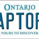 "NBA Raptors Vanity License Plate Tag Toronto 6""x 12"" Metal Auto TOR Playoffs"