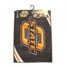 NCAA OKLAHOMA STATE  2-Piece Tufted Nylon Rug Set 18 X 24  20 X 34 Dorm Bath
