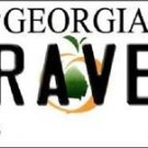 "Brave Vanity License Plate Tag State 6""x 12""  Metal Auto Atlanta Georgia New MLB"