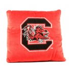 """Ncaa South Carolina Gamecocks Pillow 16""""x16""""  Red Dorm Bed Team College Pair New"""