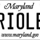 "MLB Orioles Vanity License Plate Tag State 6""x 12""  Metal Auto Baltimore MD New"