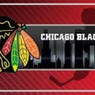 "Chicago Blackhawks  Vanity License Plate Tag  6""x 12"" Metal Auto Cup New NHL Car"