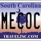 "NCAA South Carolina Vanity License Plate Tag 6""x12""  Gamecocks Team Metal Auto"