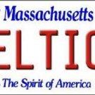 "Celtics  Vanity License Plate Tag  6""x 12"" Metal Boston White  Auto Wall Bird"