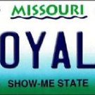 "MLB Royals Vanity License Plate Tag Kansas City 6""x 12""  Metal Auto  Brett State"