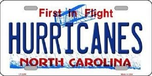 "NHL Carolina Hurricanes Vanity License Plate Tag  6""x 12"" Metal  Auto Cup Wall"