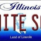 """MLB White Sox Vanity License Plate Tag  6""""x 12""""  Metal Auto Chicago Comisky New"""