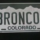 "NFL Broncos Vanity License Plate Tag Denver  6""x 12""  Metal Auto Mile High Elway"