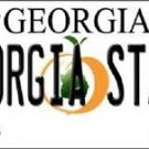 "Georgia State  Vanity License Plate Tag 6""x 12"" Bulldogs  Team Metal Auto NCAA"
