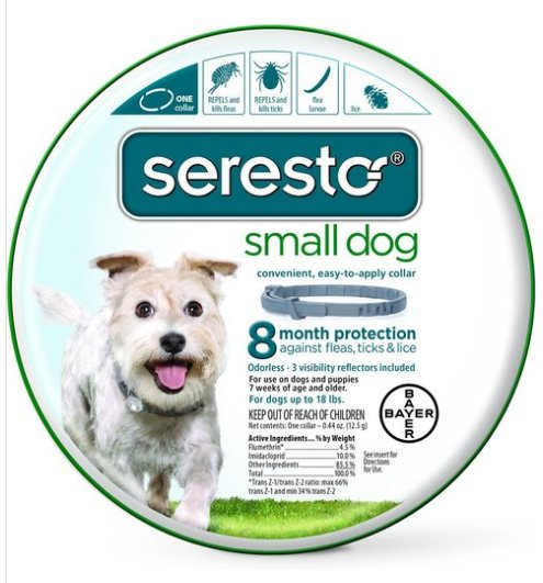SERESTO FOR SMALL DOGS 15� COLLAR FLEA & TICK 8 MONTH PROTECTION