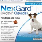 NEXGARD FOR DOGS 10.1-24 LBS (4-10KG) – 6 PACK
