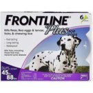 FRONTLINE PLUS FOR LARGE DOGS 45-88LBS – 6 PACK flea and tick