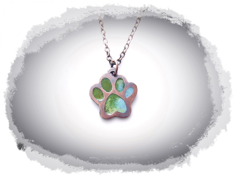 Copper Pendant - Cat's Footprint