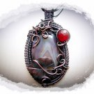 Necklace - Wirewrapping pendant with Agate