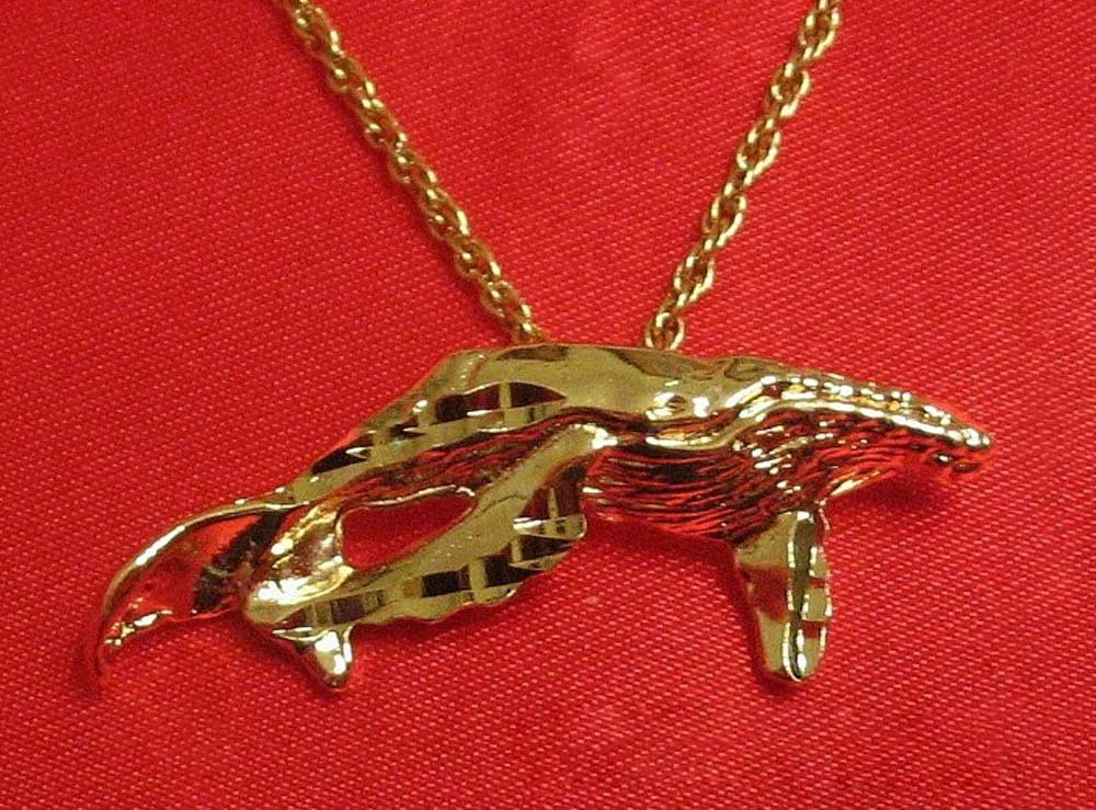 14K 14KT Double Gold Filled Whale Charm or Pendant