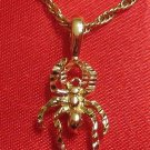 14K 14KT Double Gold Filled Spider Charm or Pendant