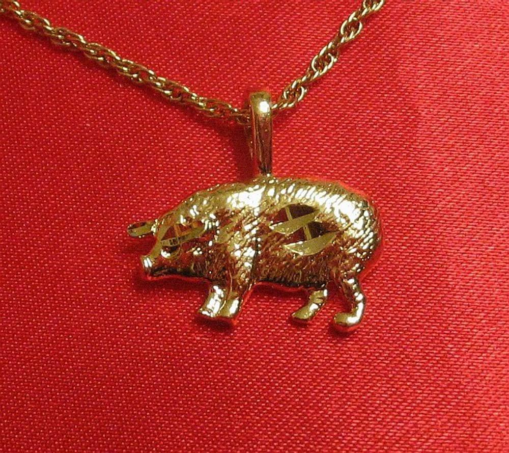 14K 14KT Double Gold Filled Pig Charm/Pendant