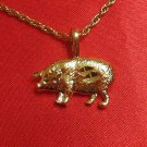 14K 14KT Double Gold Filled Pig Charm/Pendant