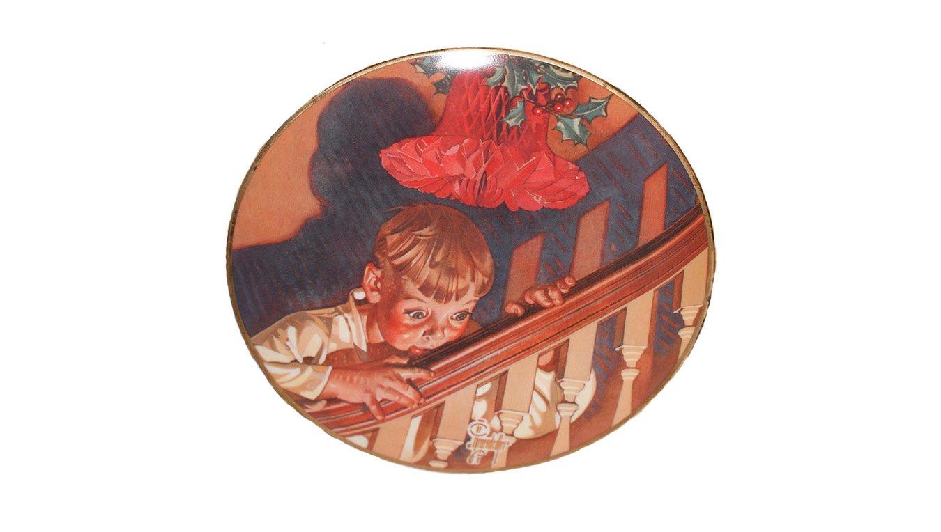 "The Best of Leyendecker Christmas Surprise 8 1/2"""" Porcelain Plate 1976 No COA"