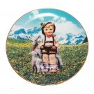 "Little Goat Herder by M. I. Hummel 8 1/4"""" Collectible Plate 23kt Gold Trim COA"